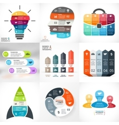 Creative arrows infographics template for vector