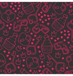 Seamless pattern with hand drawn elements vector