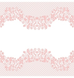 Lacy wedding invitation card vector