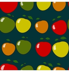 Seamless pattern with apples motif vector
