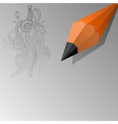 Abstract background with a pencil eps10 vector