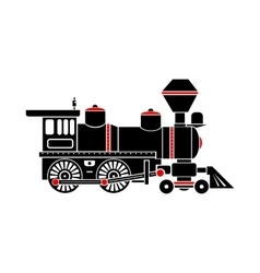 Locomotive icon simple style vector
