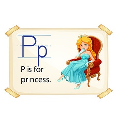 A letter P for princess vector image vector image