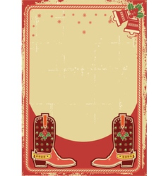 Abstract christmas card background with cowboy vector