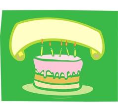 Birthday Cake Banner vector image