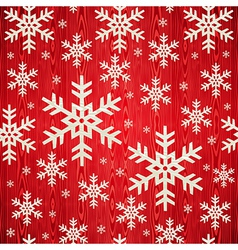 Christmas wooden snowflakes pattern vector image vector image