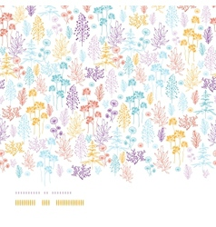 Colorful flowers and plants horizontal seamless vector image vector image