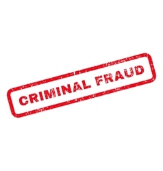 Criminal Fraud Text Rubber Stamp vector image vector image