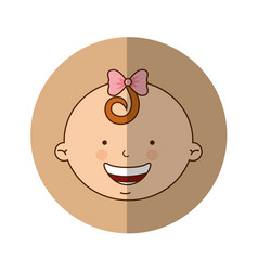 Cute baby girl character vector