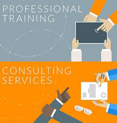 Flat design concept for professional training and vector