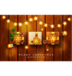 For merry christmas and happy new vector