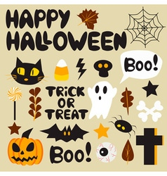 Halloween cartoon set vector image