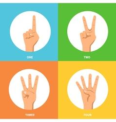 Hands 2x2 design concept set vector