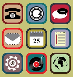 Icon Set for Mobile Phone vector image vector image