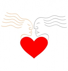 lovers abstract design vector image vector image