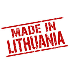 made in lithuania stamp vector image vector image