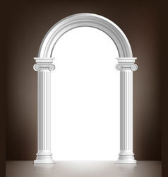 Realistic white arch vector image vector image
