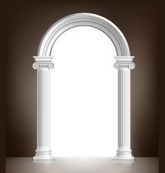 Realistic white arch vector