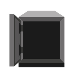 safe box isolated icon design vector image vector image