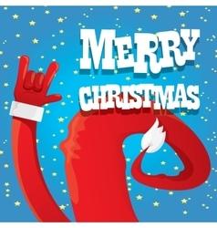 Santa claus hand rock n roll vector