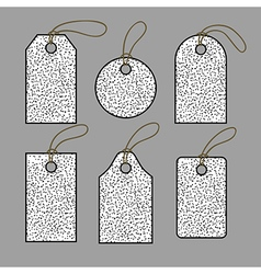 Set of tags in black dots vector