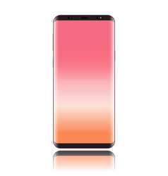 Smart phone with screen pink and body pink rose vector