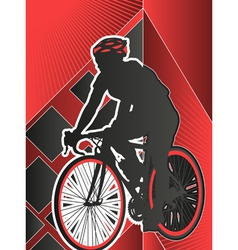 sport poster series cycling vector image