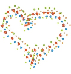 Star heart vector