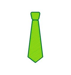 tie sign lemon scribble icon vector image vector image
