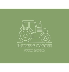 Tractor logo design template harvest or farm icon vector image vector image
