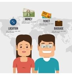 Travel around the world design vector