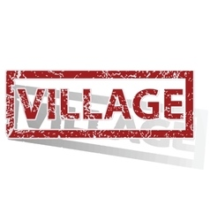 Village outlined stamp vector
