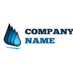 Water drop creative idea logo design blue template vector image
