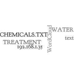 Water treatment chemicals text word cloud concept vector
