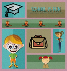 With backtoschool and bag vector