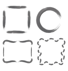 Set with Greyscale Watercolour Frames vector image