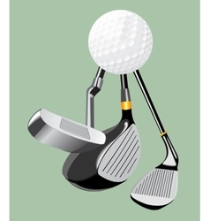 Realistic  golf club and golf vector