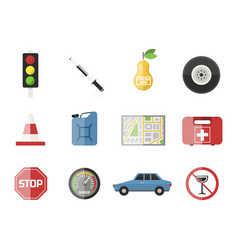 Auto transport motorist icon symbol vehicle vector