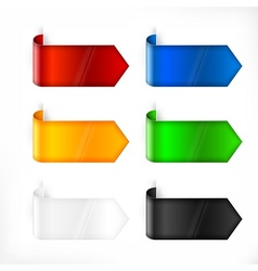 Color labels stickers on white vector image
