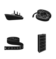 Book design leisure and other web icon in black vector