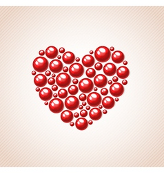 Heart of bead for valentines day vector