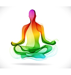 Yoga pose Abstract color background vector image