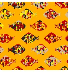 Abstract texture with fishes vector