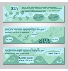 Spa flyer template vector