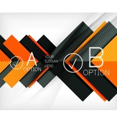 Color geometric shapes with option elements vector