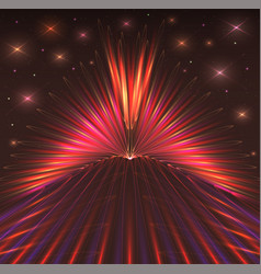 abstract background with bursts of laser rays vector image vector image