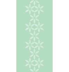 Abstract textile mint green leaves geometric vector image vector image