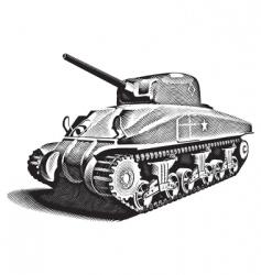 american tank engraving vector image vector image
