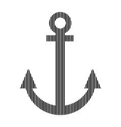 Anchor sign on white vector image