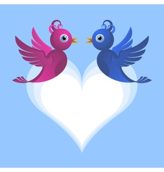 bird lovers vector image